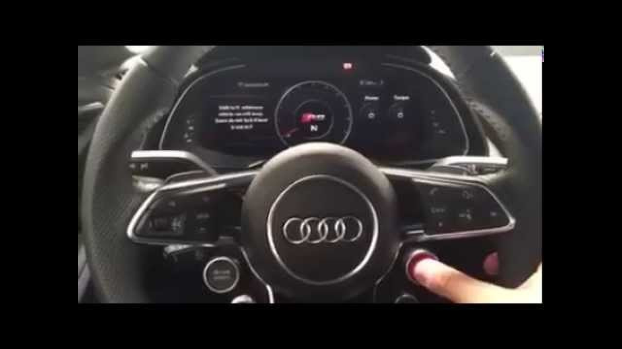 Yeni Audi R8'in çılgın gösterge paneli