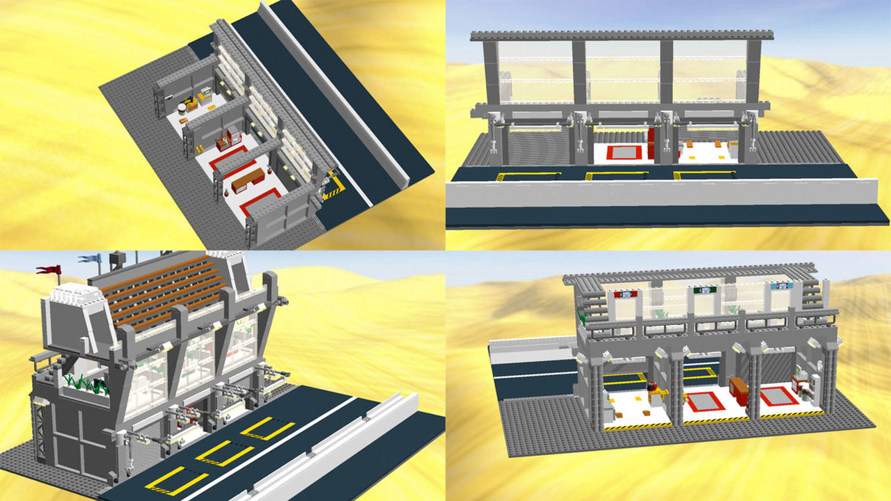 Visit le mans in lego with this modular pit straight set - Garage volkswagen le mans ...