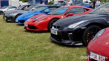 Nissan GT-R, Ferrari 458 Speciale, Lamborghini Huracan Spyder, Jaguar F-Type at 2017 Goodwood Festival of Speed