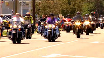 Nicky Hayden Funeral Procession