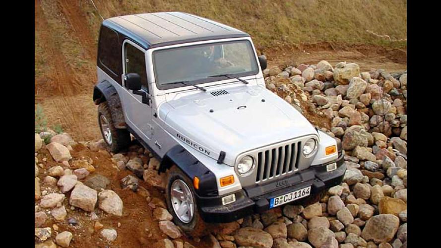 Offroad-Akrobatik mit dem Jeep Wrangler Rubicon