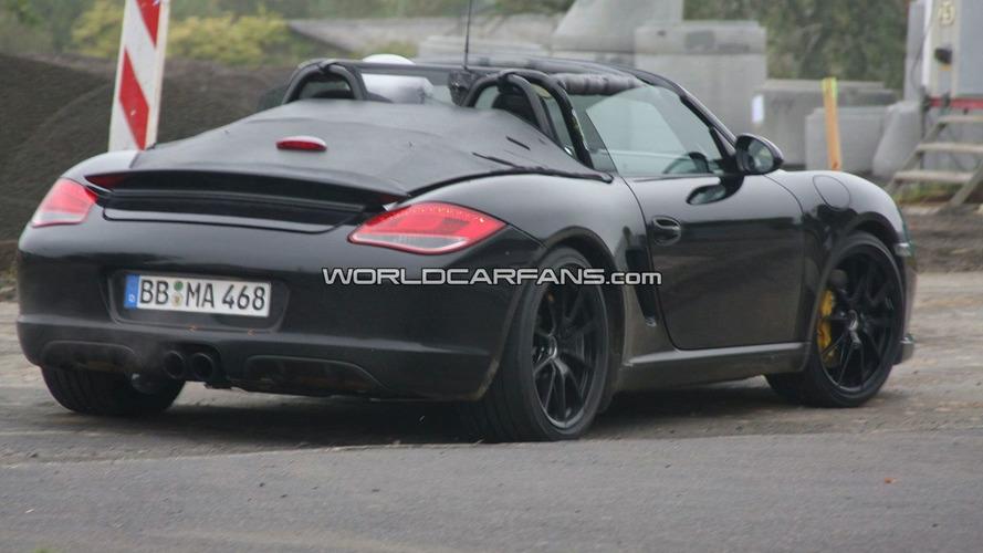 Porsche Boxster Speedster First Spy Photos with Open Top