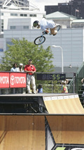 BMX Legend Dave Mirra wins rally, support