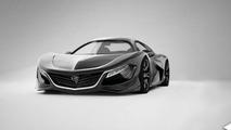 Mazda RX-9 rendering / Alex Hodge
