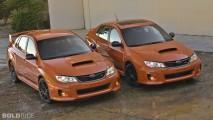 Subaru WRX STI Orange and Black