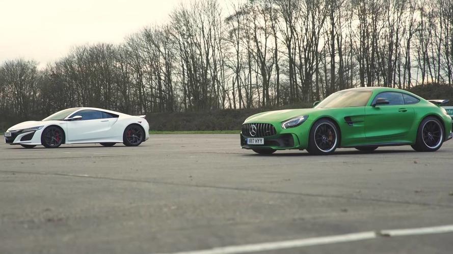 Acura NSX'in AMG GTR ile yarışını izleyin