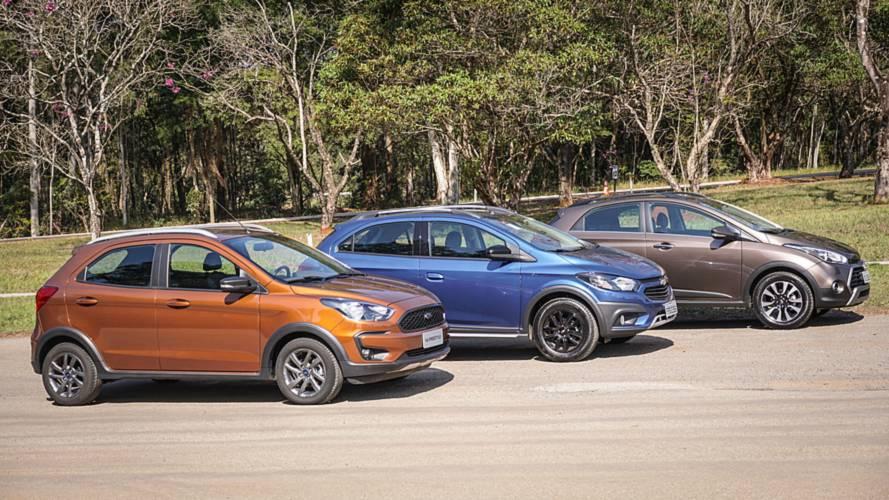 Comparativo Ford Ka Freestyle vs. Chevrolet Onix Activ e Hyundai HB20X - Tirando o atraso