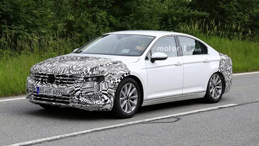 2019 VW Passat Spied Hiding Facelift For Europe