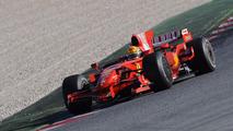 Valentino Rossi testando Ferrari F2008