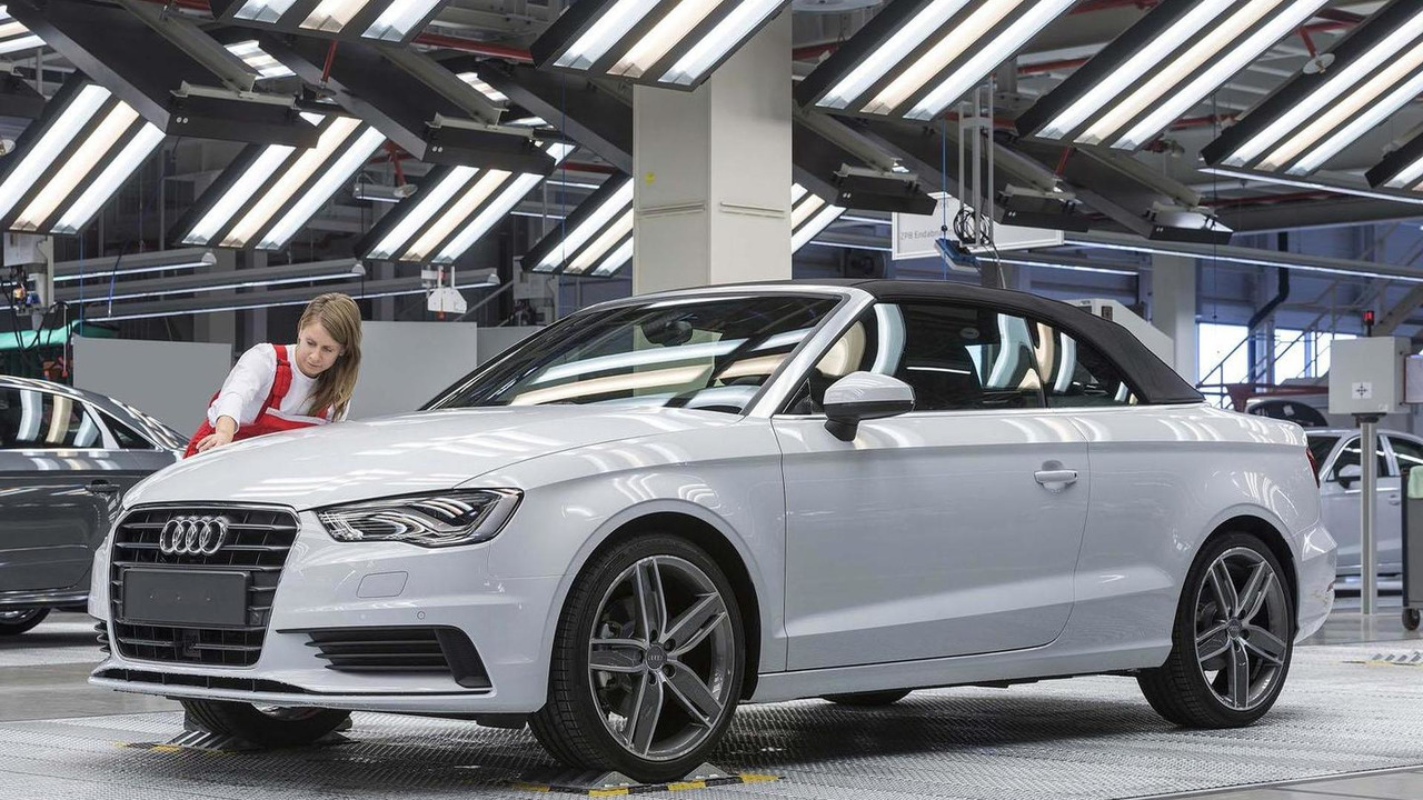 2014 Audi A3 Cabrio production 17.10.2013