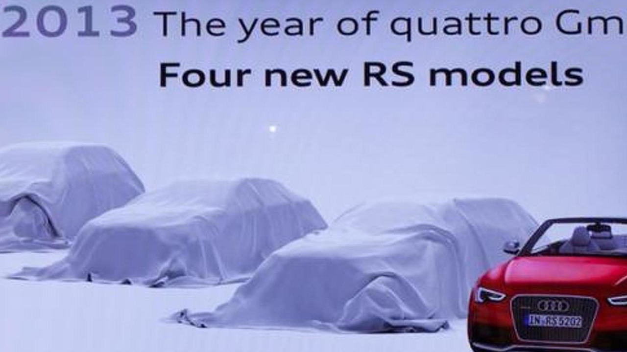2013 Audi new RS models teaser
