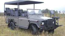 Land Rover Defender Safari Game Viewer electric vehicle concept 09.05.2011
