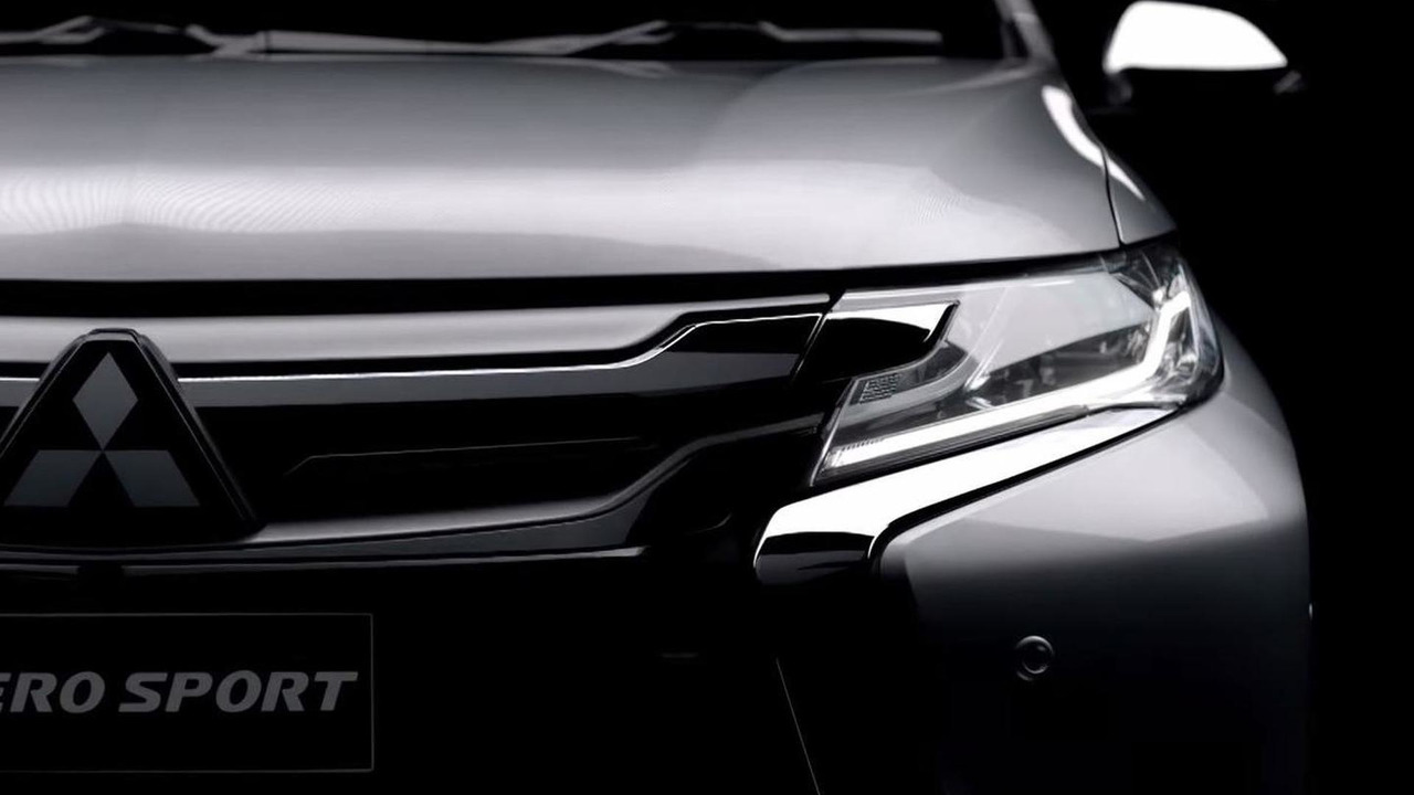 2016 Mitsubishi Pajero Sport screenshot from teaser video