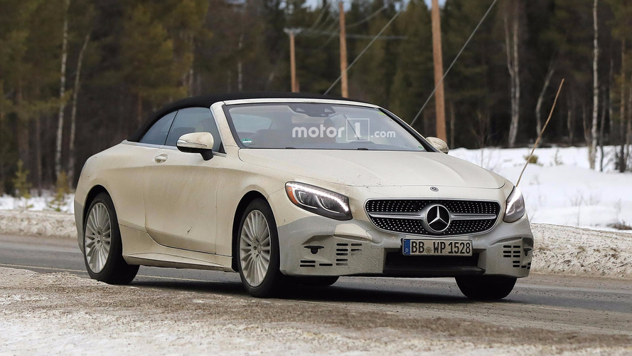 Mercedes spied testing lightly camouflaged S-Class Cabriolet refresh