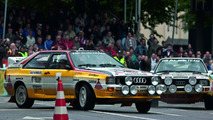 Audi Rallye quattro A2 and Audi Sport quattro (right), Donauring, 18.07 2009