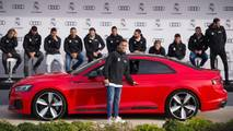 Real Madrid players take delivery of their new Audi models