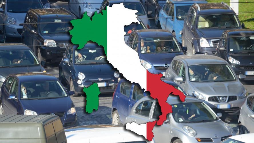 Densità auto, l'Italia è seconda in Europa