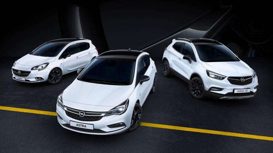 Les Opel Astra, Corsa et Mokka X se couvrent de noir