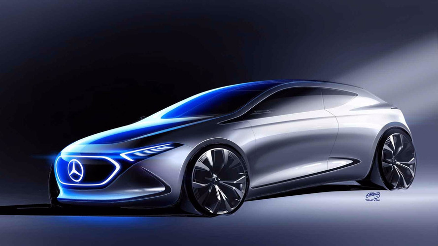 New Mercedes EQ A Teaser Sketch Shows A Sleek Hatchback