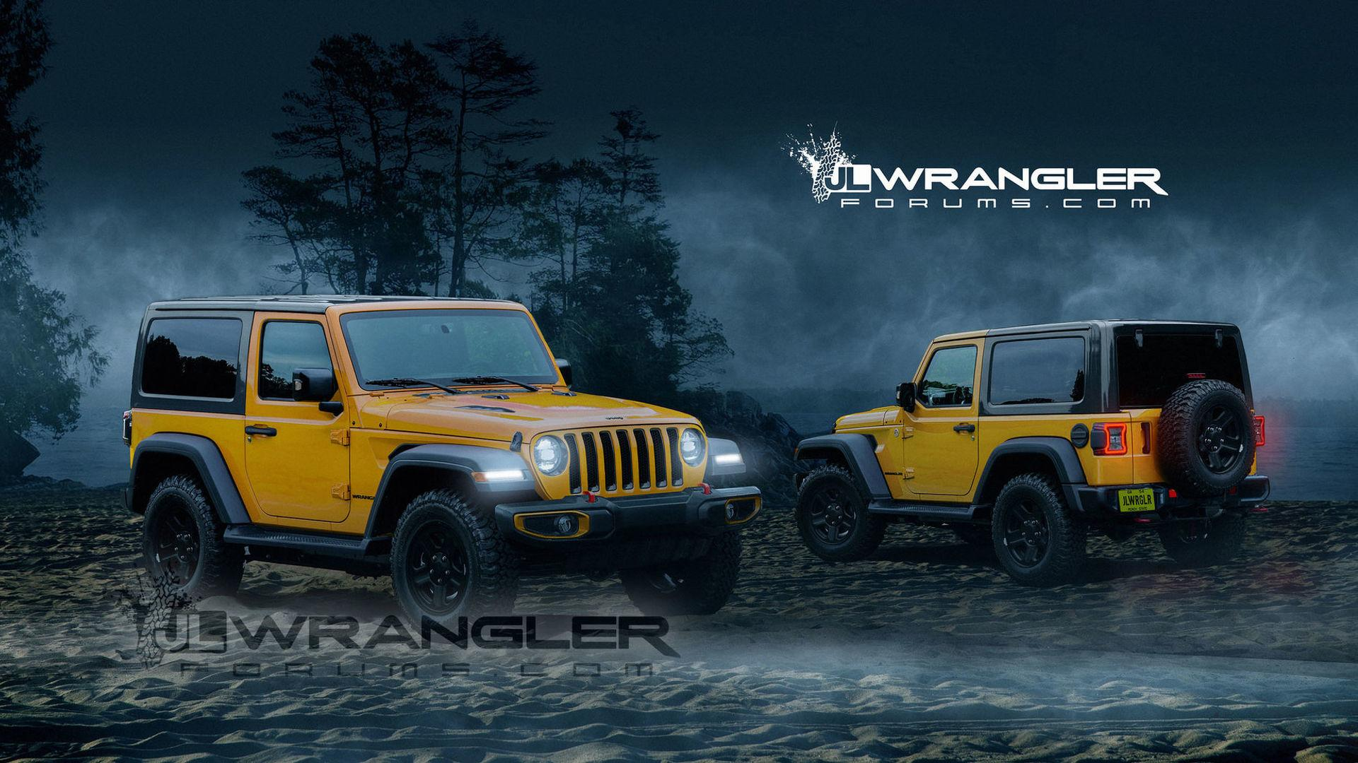 2018 Jeep Wrangler Two Door Rendered With New Cues