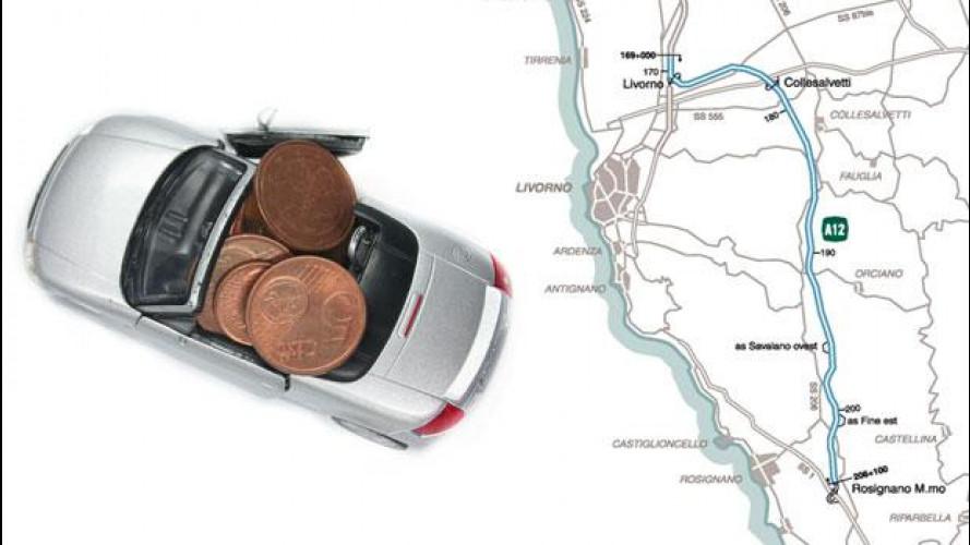 Autostrada Tirrenica, da giovedì 7 giugno si pagano 4,5 km in più