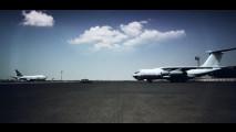 Una Nissan Patrol sposta un aereo di oltre 150.000 kg