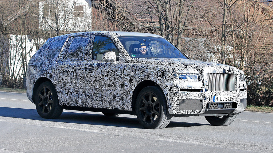 Rolls-Royce Cullinan SUV caught testing for the first time