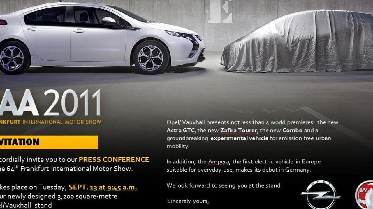 Opel / Vauxhall Frankfurt Invite - 6.9.2011