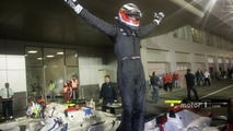 Winner Nico Hulkenberg celebrates