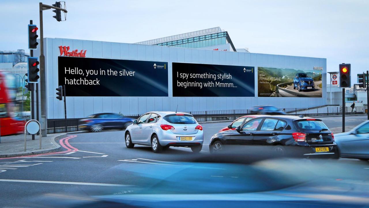 Renault vehicle recognition billboard