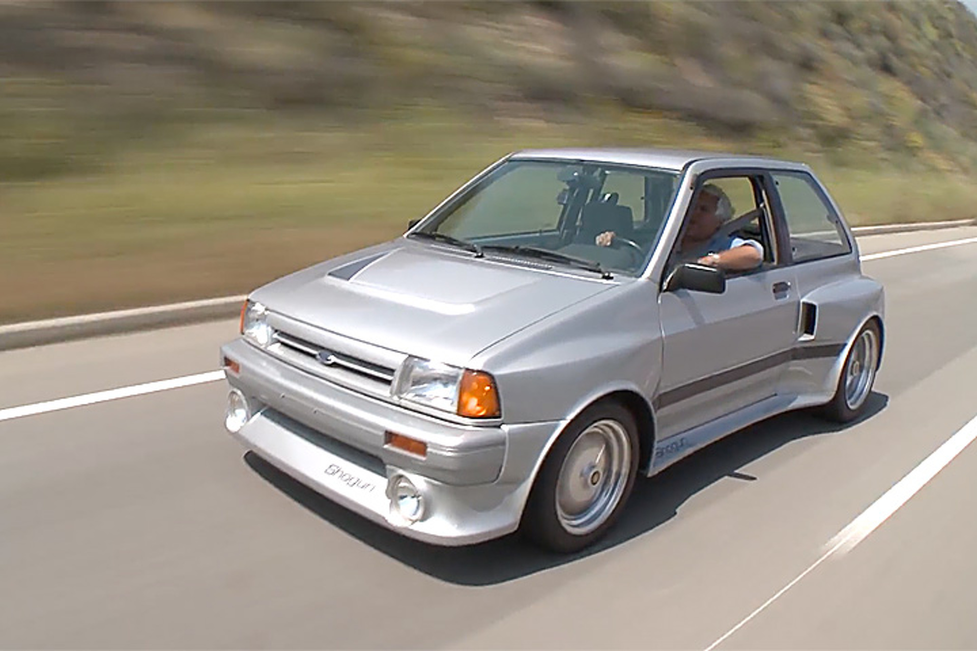 Watch Jay Leno Drive Ford S Sleeper Supercar The Festiva Shogun