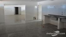 Construction work at Interlagos
