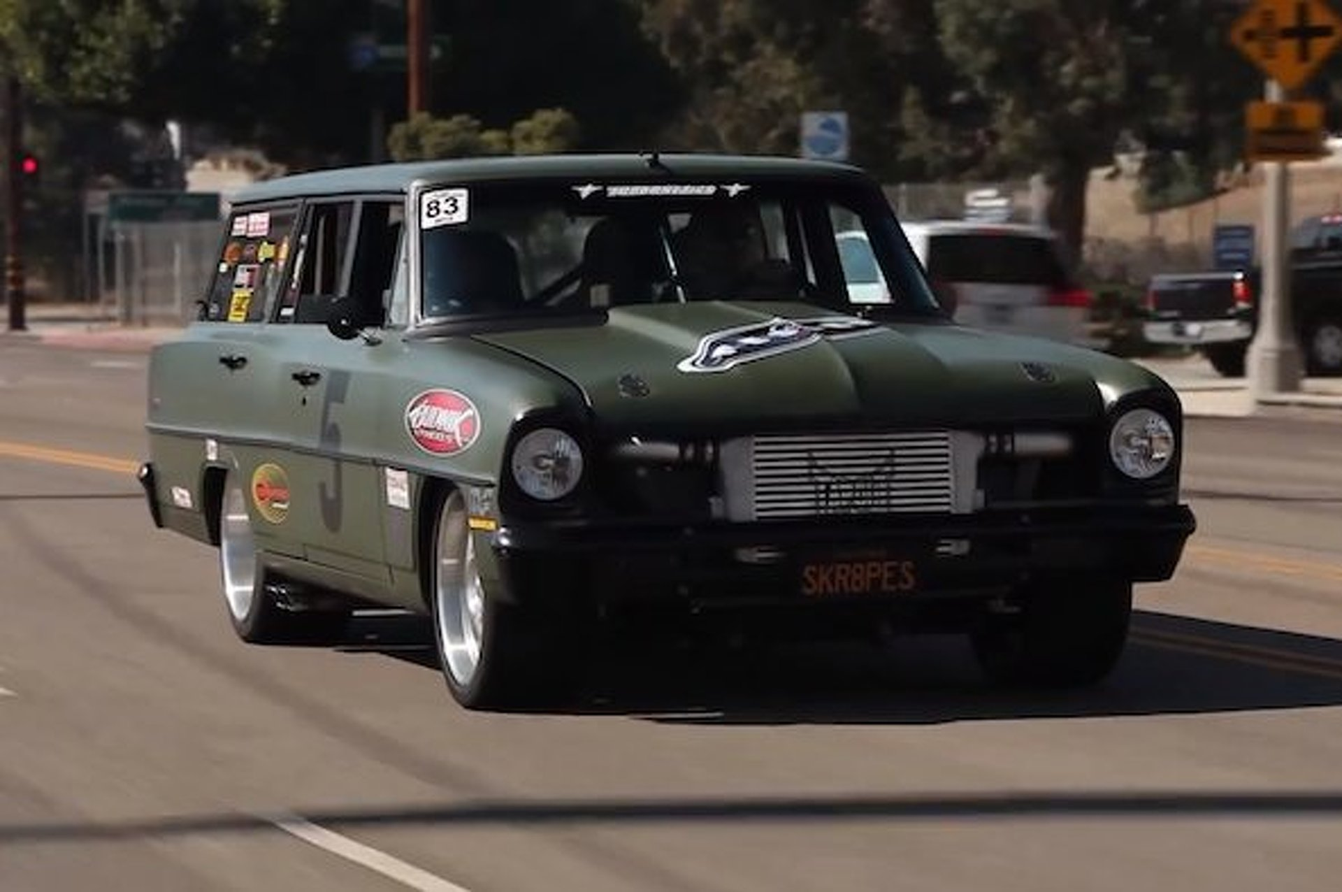 Big Muscle Gets Behind the Wheel of a Gnarly Nova Muscle Wagon [Video]