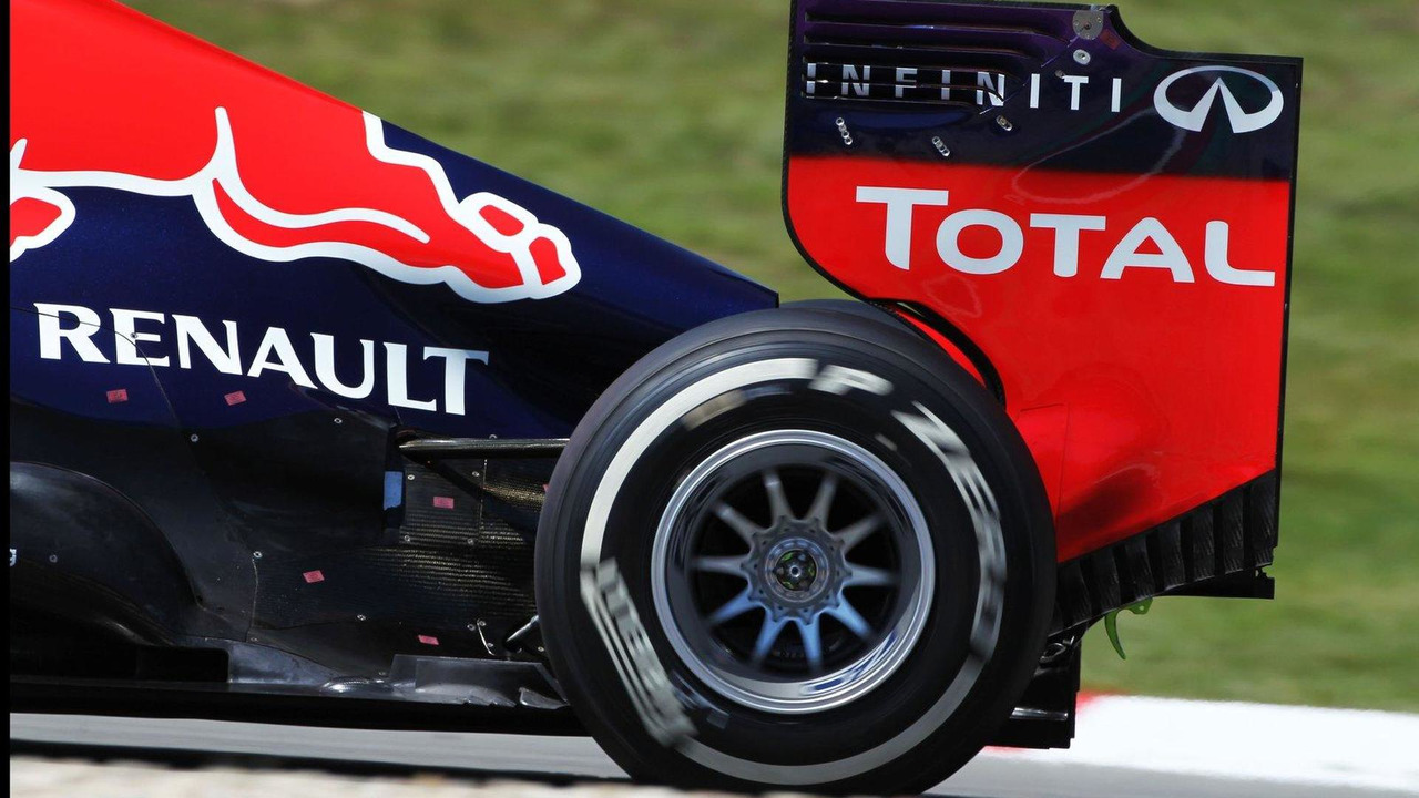 Heat sensors on the engine cover of Mark Webber 07.07.2013 German Grand Prix