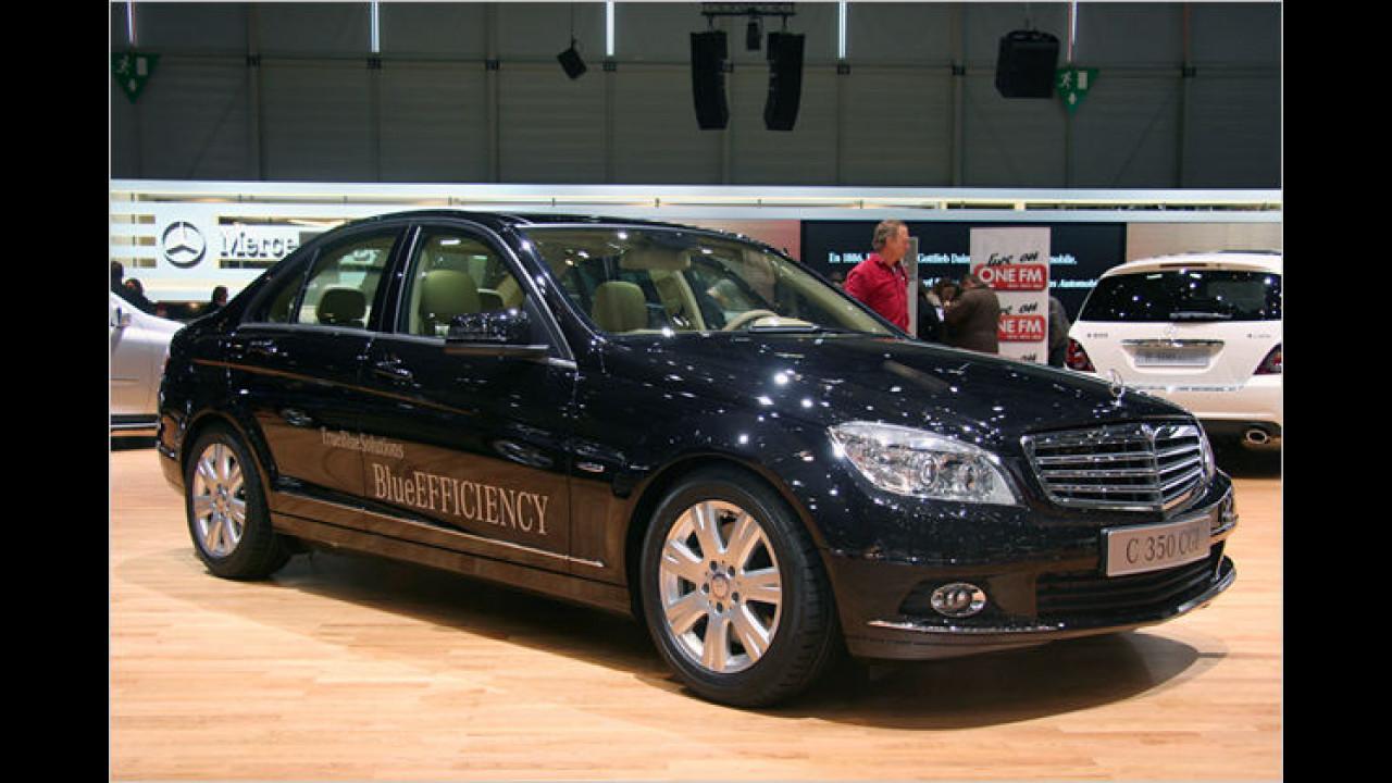 Der Mercedes C 350 CGI BlueEFFICIENCY mit Benzin-Direkteinspritzung