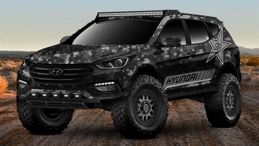 Hyundai Santa Fe Sport, al SEMA 2017 diventa Rockstar