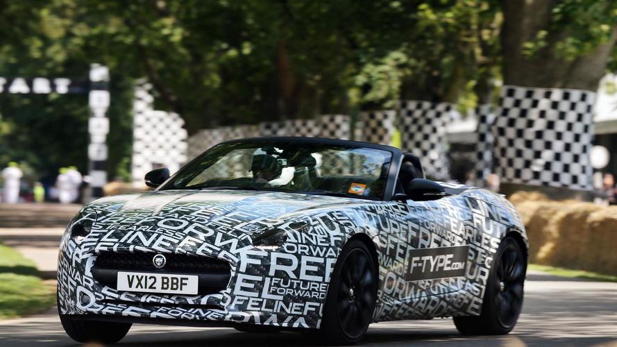 Jaguar F-Type prototype goes topless at Goodwood