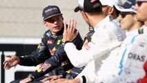 Max Verstappen, Red Bull Racing and Jenson Button, McLaren F1