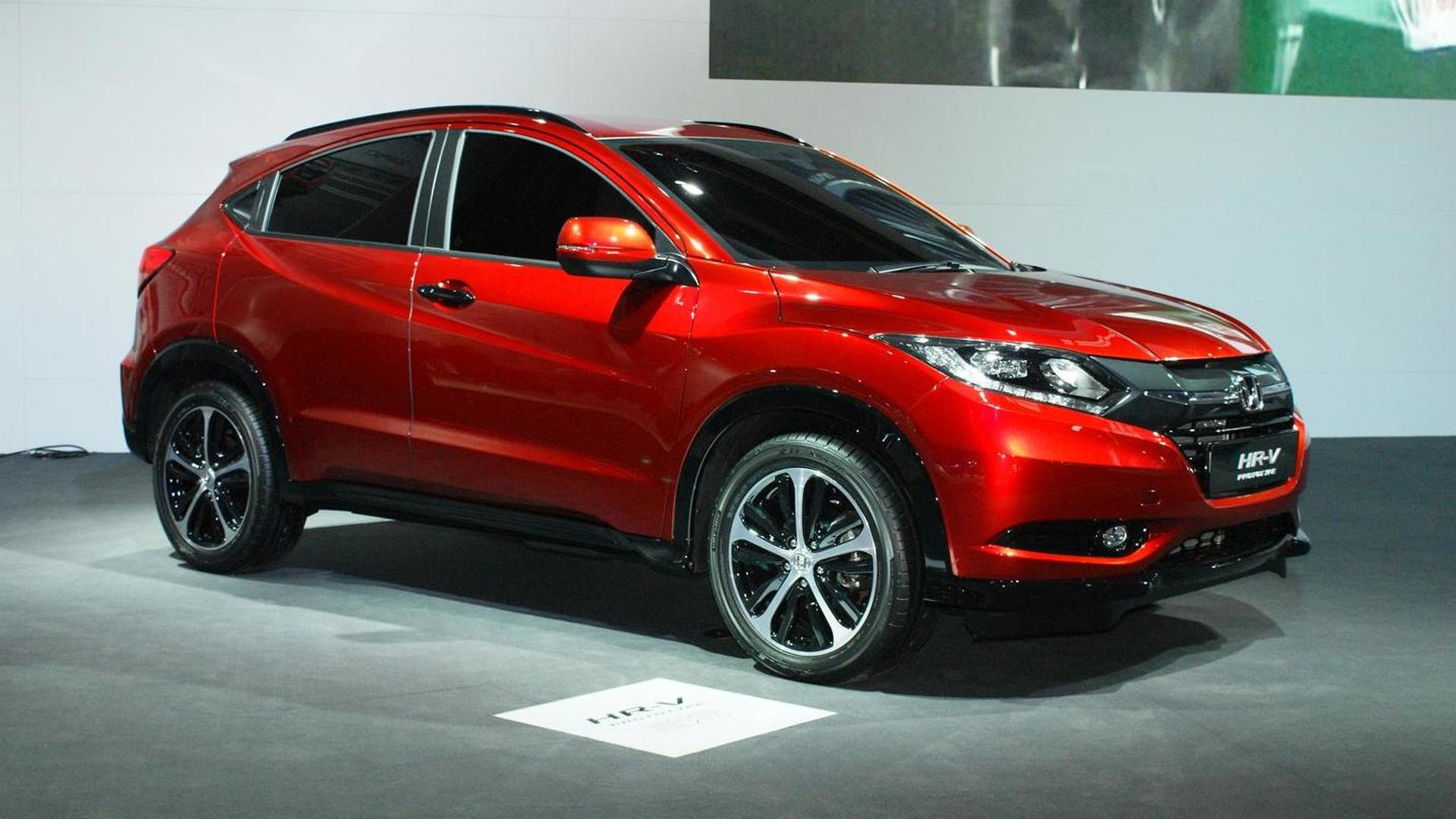 2015 honda hr v and cr v prototypes introduced in paris. Black Bedroom Furniture Sets. Home Design Ideas