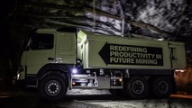 Self-driving Volvo FMX mine test