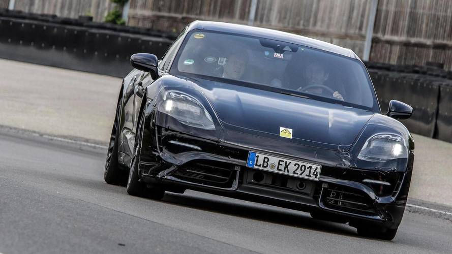 Mark Webber Drives Porsche Mission E On Test Track