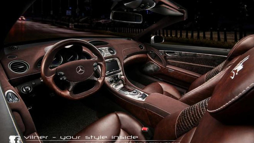 Mercedes-Benz SL gets crocodile interior theme from Vilner