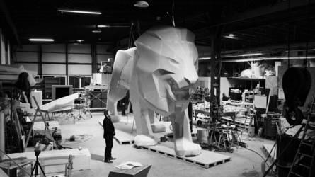 Peugeot a un nouvel ambassadeur : un lion géant long de 12,5 mètres et haut de 4,8 mètres