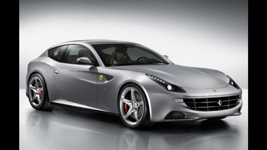 Nova Ferrari Four (FF): Marca divulga nova imagem e ficha técnica