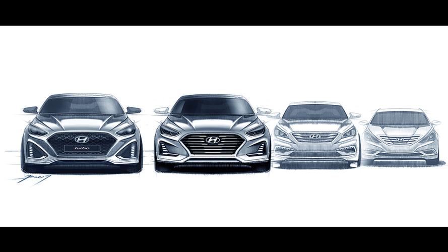 Novo Hyundai Sonata 2018 aparece em primeiras imagens antes da estreia