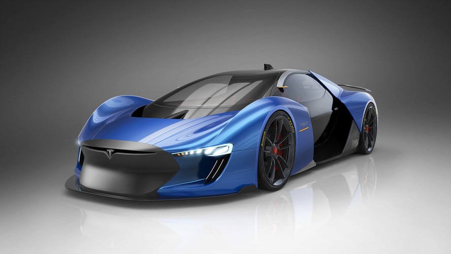 Experimental Tesla Model EXP Supercar Rendered By Spanish Artist
