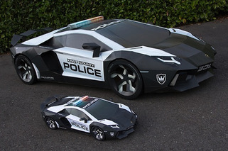 Artist Creates Paper Lamborghini Police Car