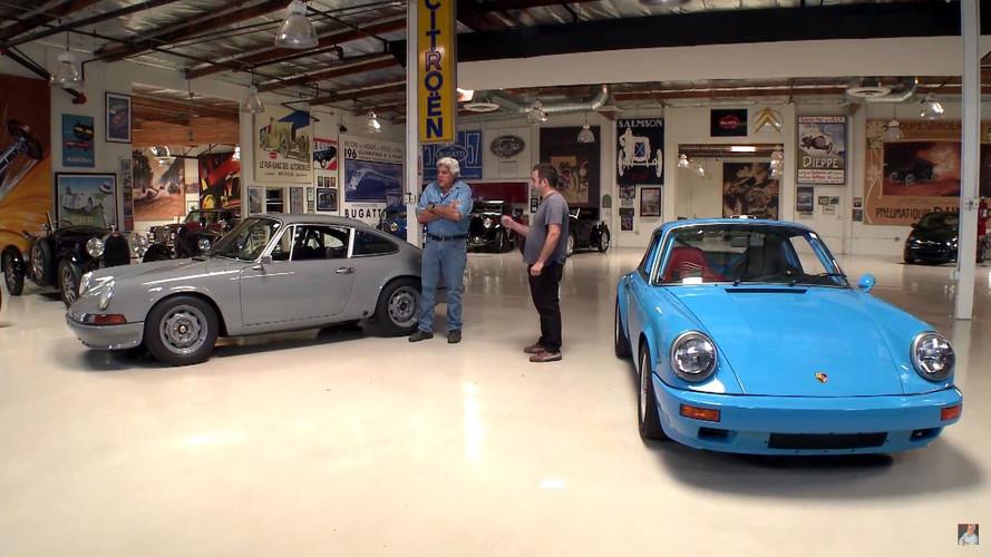 Jay Leno Appreciates Pair Of 1970s Porsche 911 Restomods