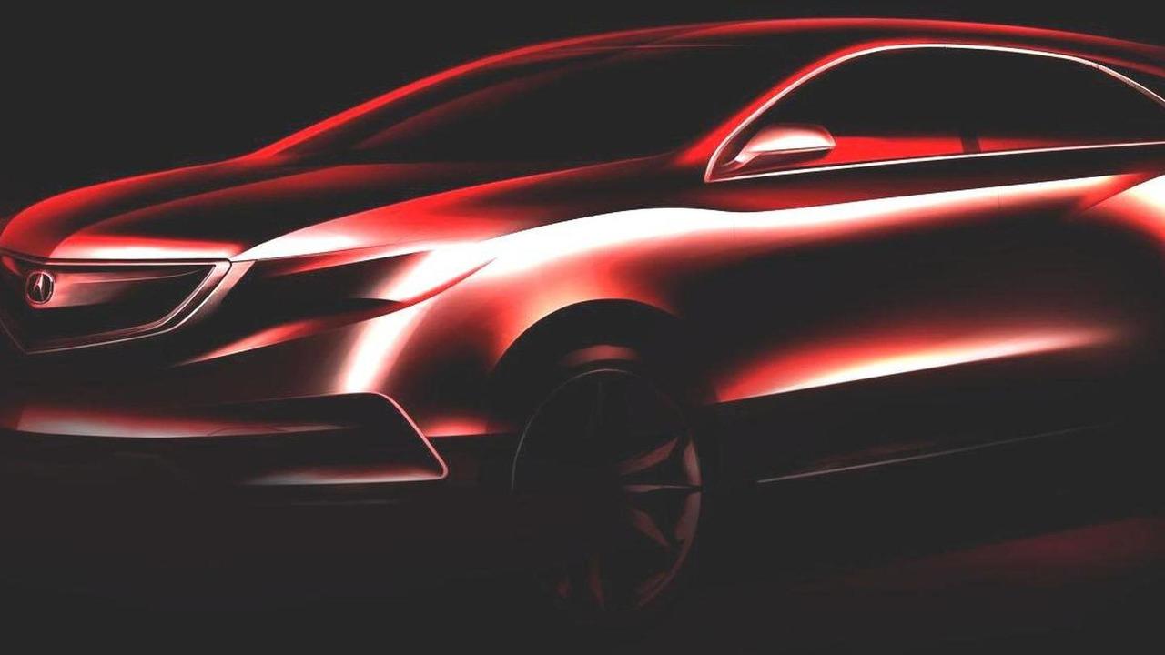 2014 Acura MDX prototype teaser image enhanced 12.12.2012