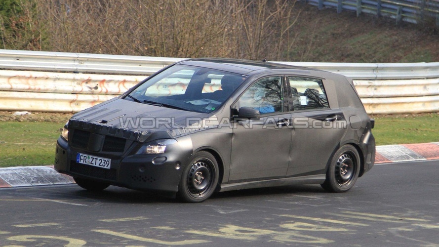 2012 Mercedes B-Class spied at Nurburgring